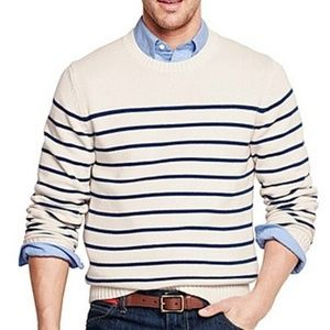 Land End Drifter Stripe Crewneck XXL 2XL 50-52